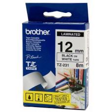 Brother Cinta Negro/blanco 12mm